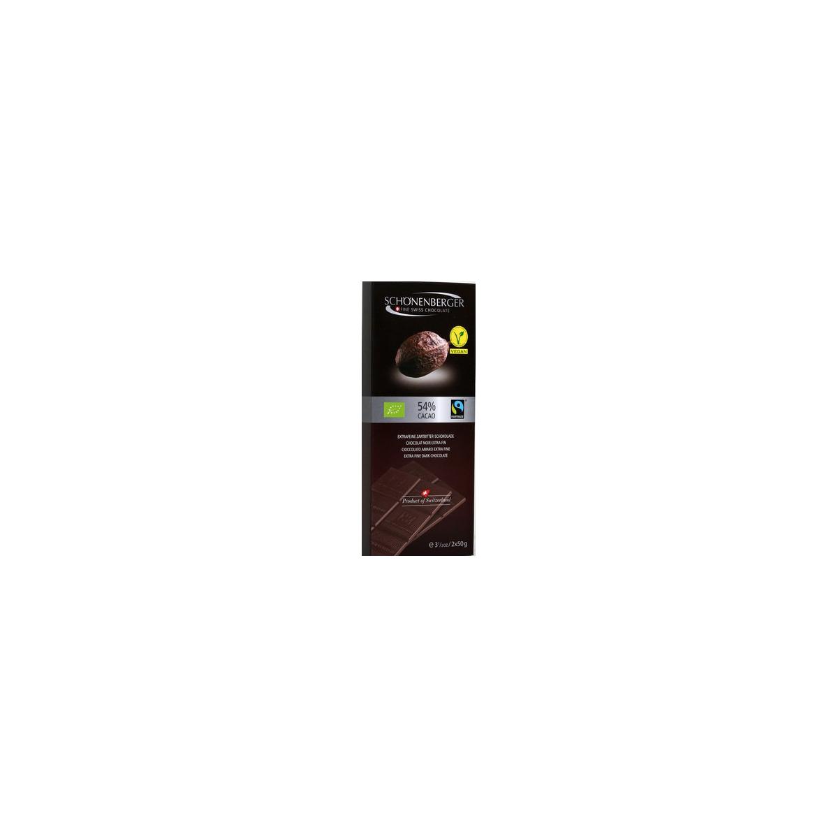 Extrafeine Bio Schokolade Zartbitter vegan