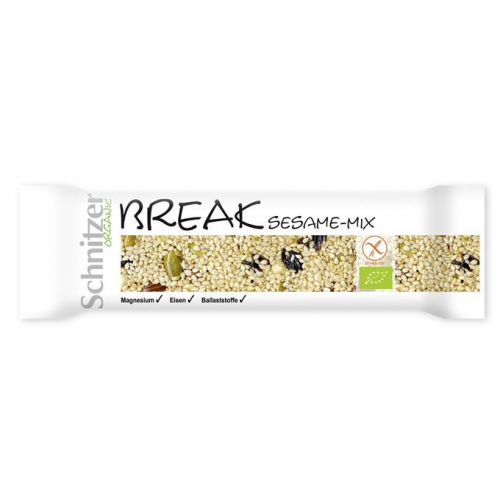 Bio Break Sesame-Mix Riegel glutenfrei