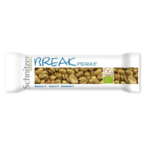 Bio Break Peanut Erdnuss- Riegel glutenfrei