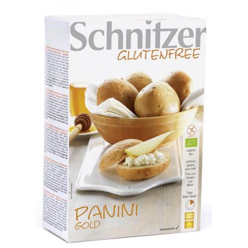 Bio Panini Gold 4 Aufbackbrötchen glutenfrei