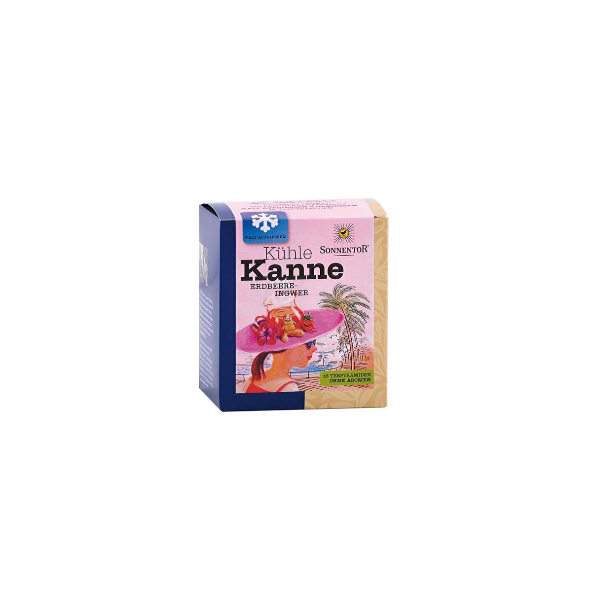 Erdbeer-Ingwer Kühle Kanne Früchtetee