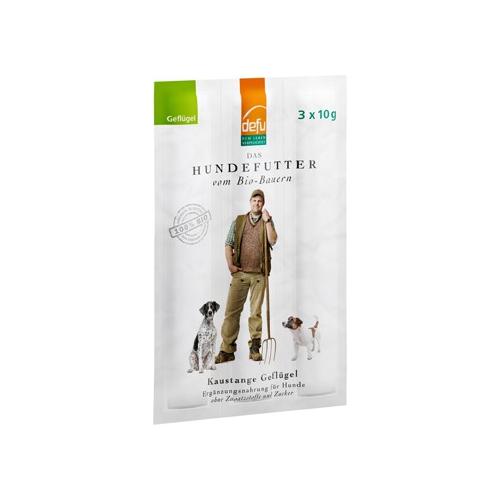 Bio Hundefutter Premium Kaustangen Geflügel 3x10g