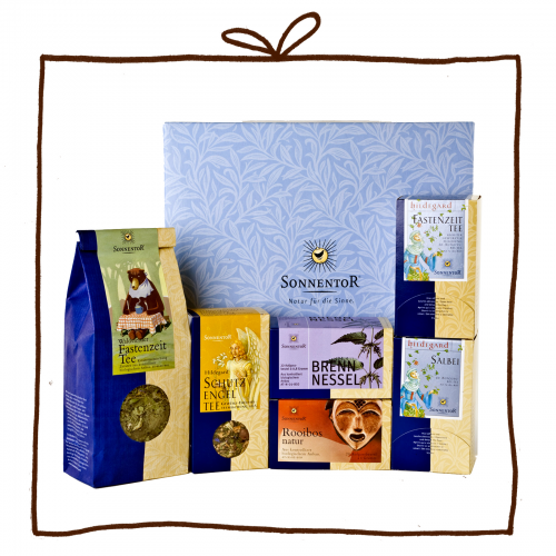 Fastenzeitpaket - Geschenkkarton, Kräutertees