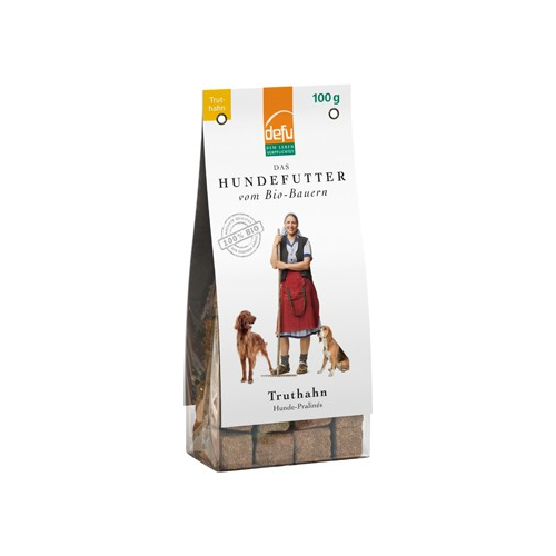 Bio Hundefutter Premium Pralinés Truthahn 100g