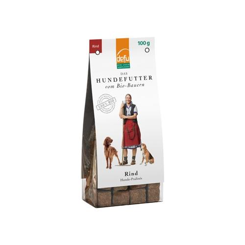 Bio Hundefutter Premium Pralinés Rind 100g