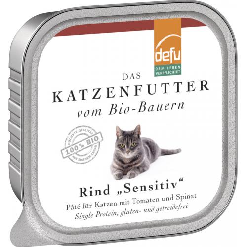 Bio Katzen-Alleinfutter Paté Rind 100g