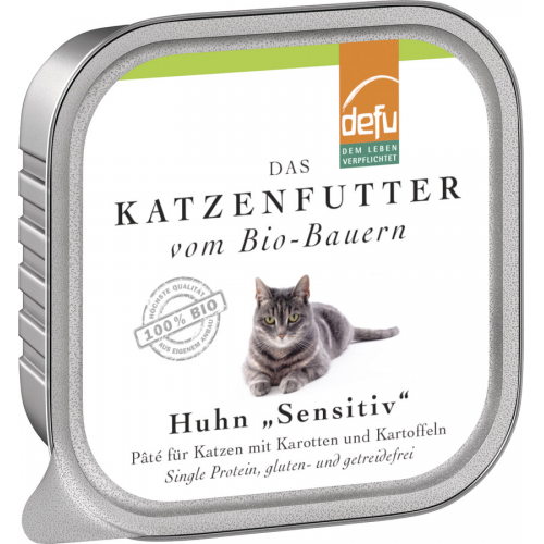 Bio Katzen-Alleinfutter Paté Huhn 100g