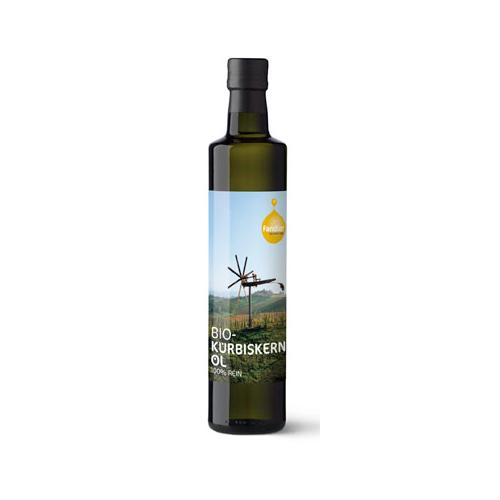 Bio Kürbiskernöl sortenrein kleine Flasche