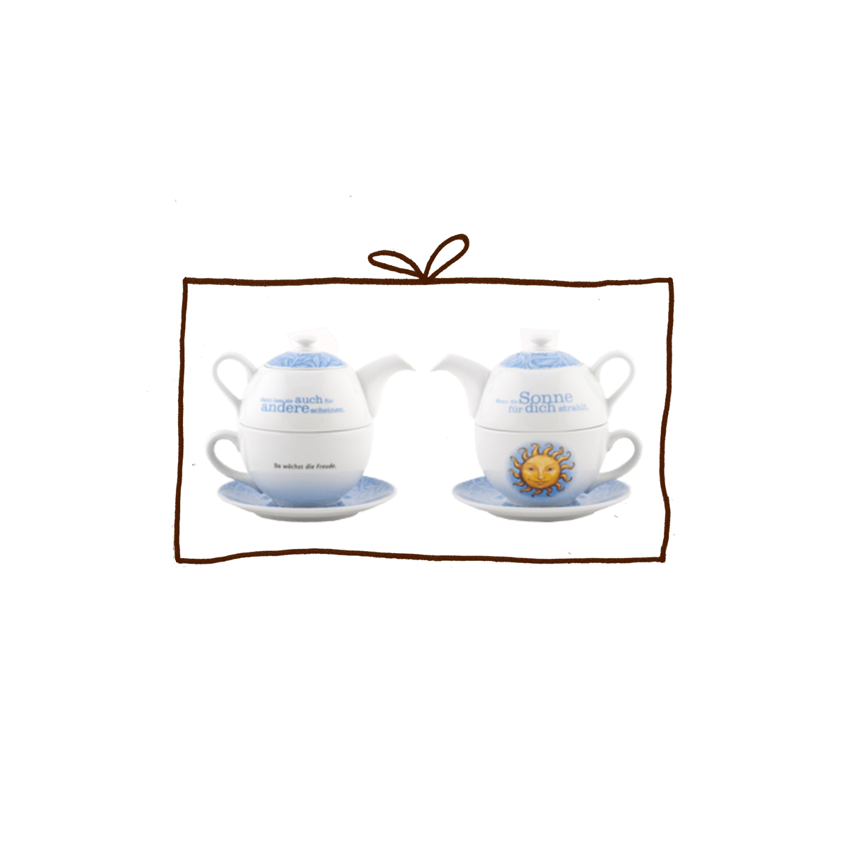 sonnentor tea for one set k nnchen tasse 500ml mahler co feine biowaren. Black Bedroom Furniture Sets. Home Design Ideas