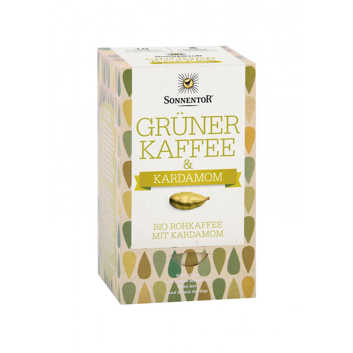 Grüner Kaffee mit Kardamom Sonnentor