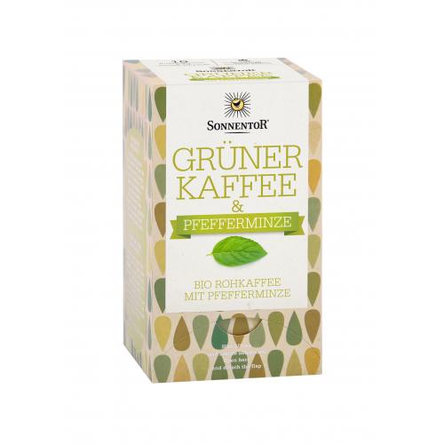 Grüner Kaffee mit Pfefferminze