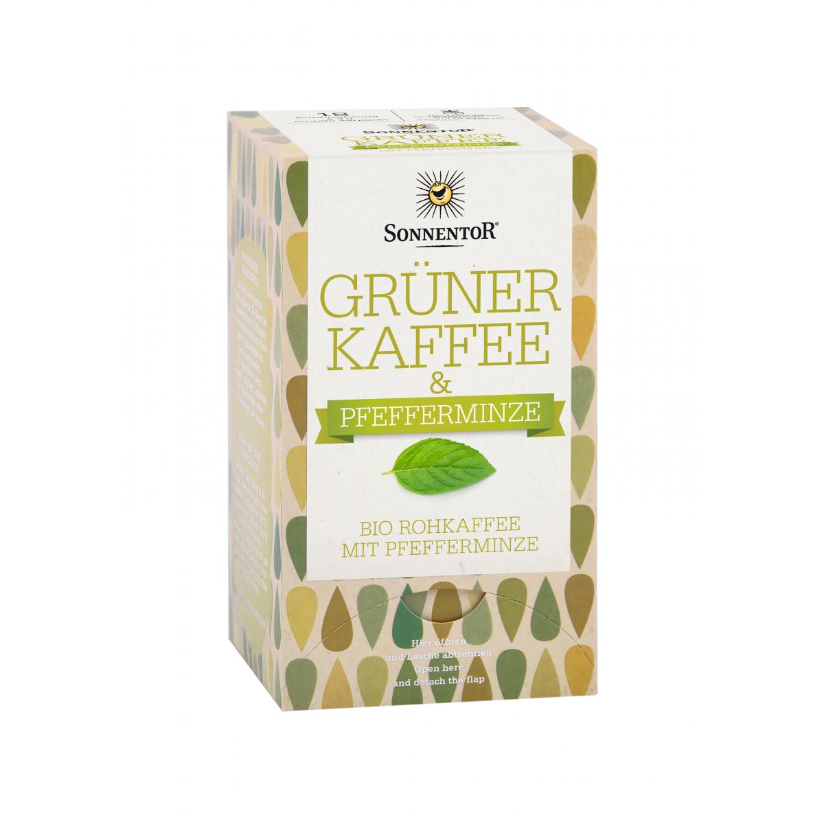 Grüner Kaffee mit Pfefferminze Sonnentor