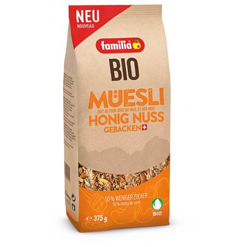 familia Bio Müesli Honig & Nuss gebacken