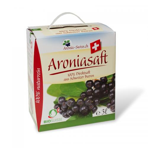 Bio Aronia-Saft aus dem Aargau 3l Box