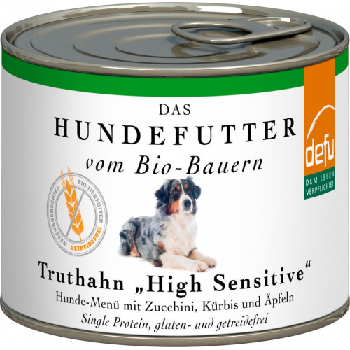 Bio Hundefutter defu High Sensitive Truthahn