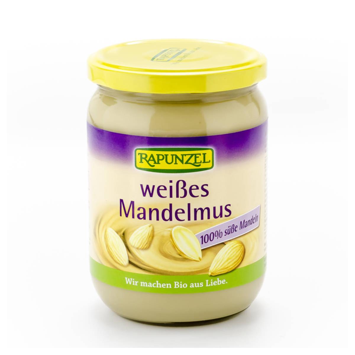 Mandelmus weiss Glas 500 g - Rapunzel