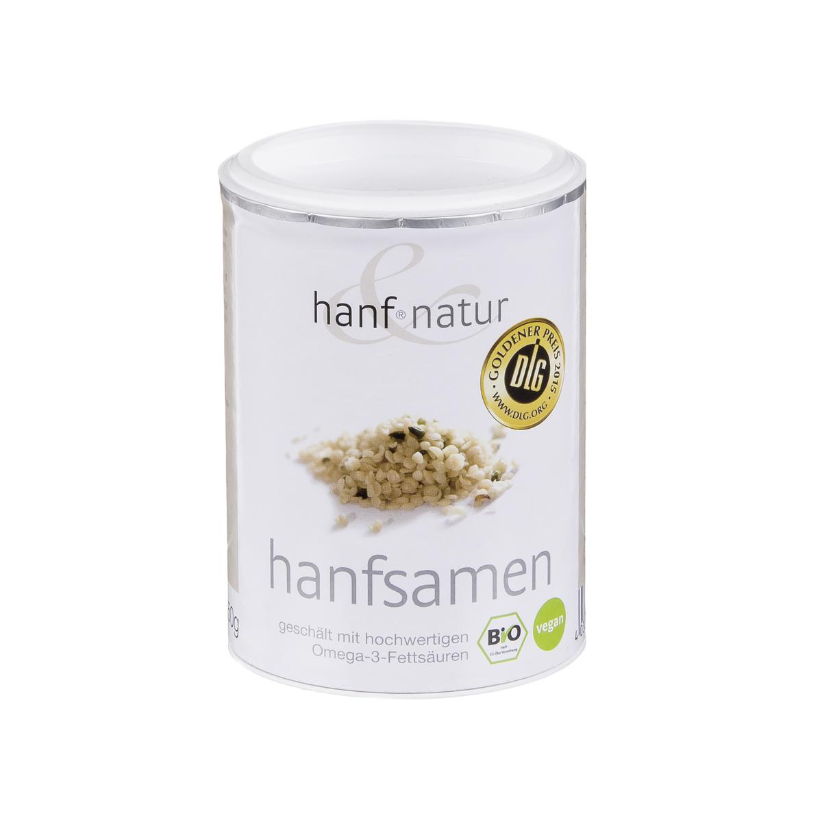 Hanfsamen geschält Dose 150 g - Hanf & Natur