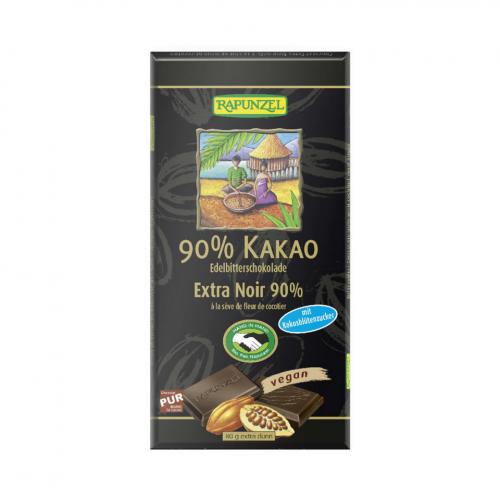 Schokolade 90% Kakao mit Kokosblütenzucker