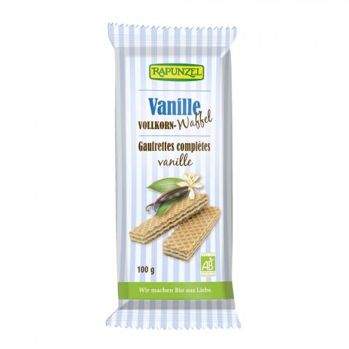Waffeln Vollkorn Vanille Pack 100 g - Rapunzel