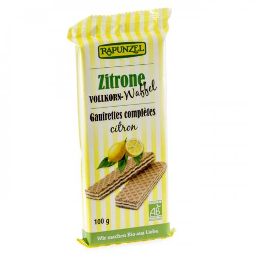 Waffeln Vollkorn Zitronen Pack 100 g - Rapunzel