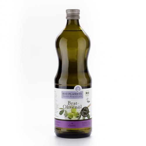 Brat-Olivenöl Flasche 1 l/Glas Einweg - Bio Planète