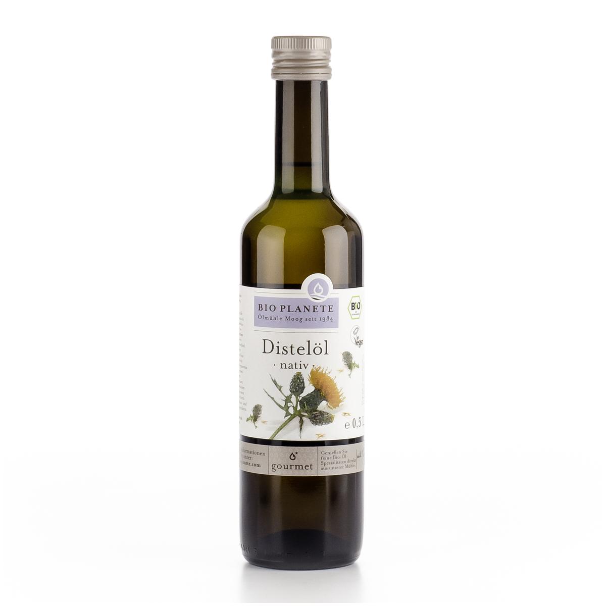Distelöl nativ Flasche 500 ml/Glas Einweg - Bio Planète