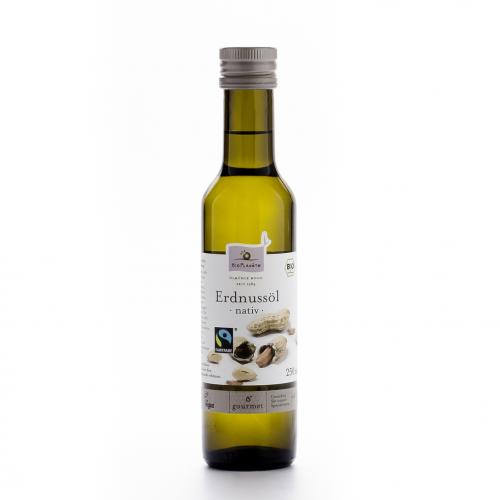 Erdnussöl nativ Flasche 250 ml/Glas Einweg - Bio Planète