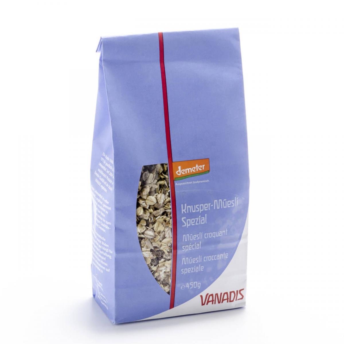 Knusper-Müesli spezial Beutel 450 g - Vanadis