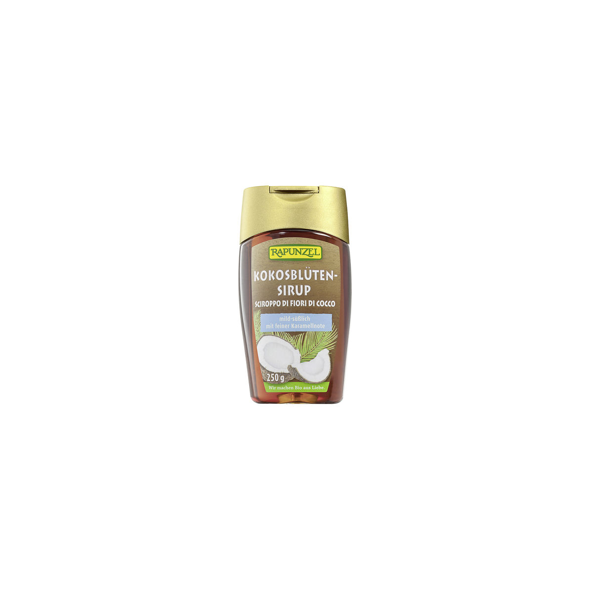 Kokosblüten-Sirup Flasche 250 ml/Plastik Einweg - Rapunzel