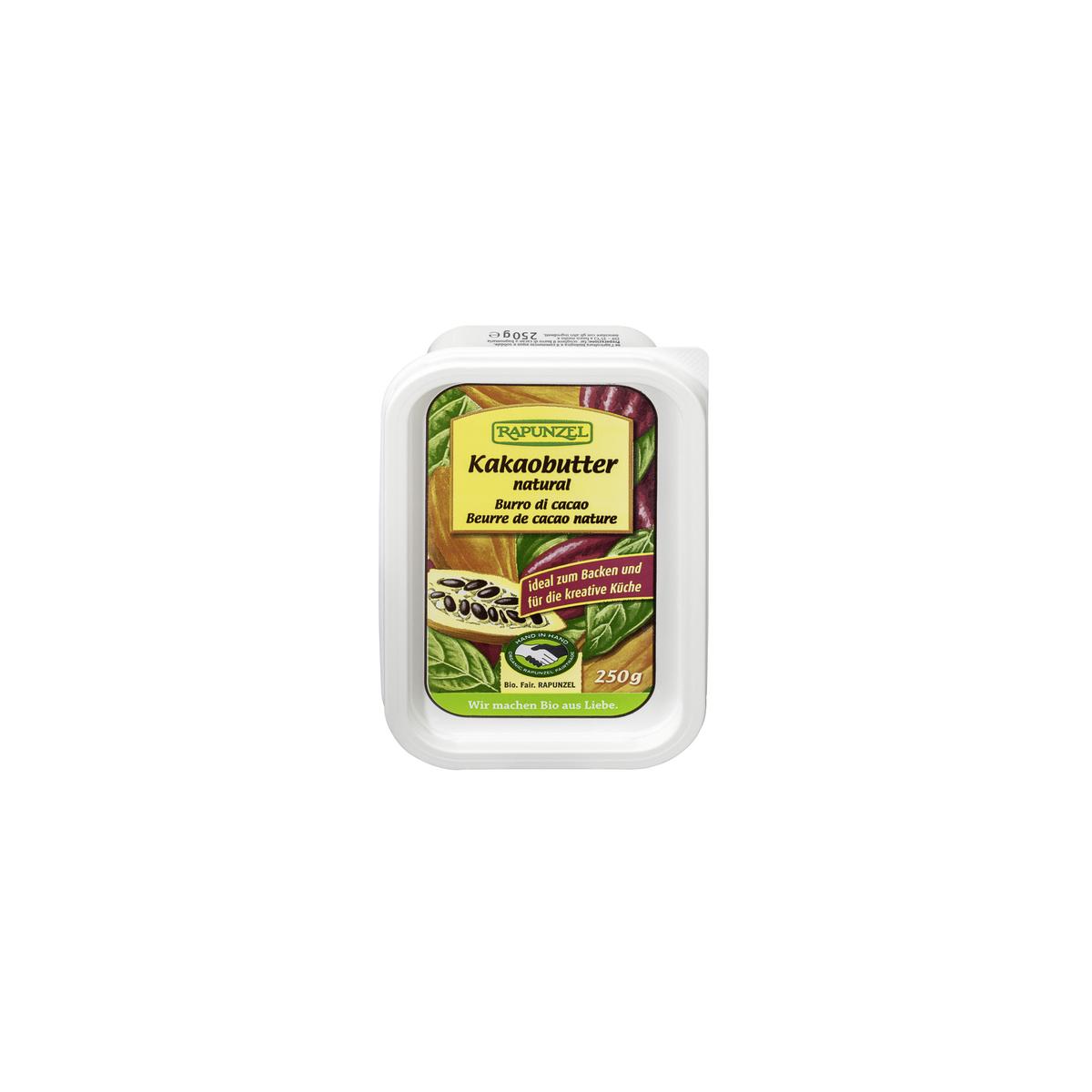 Kakaobutter nature, HIH Schale 250 g - Rapunzel