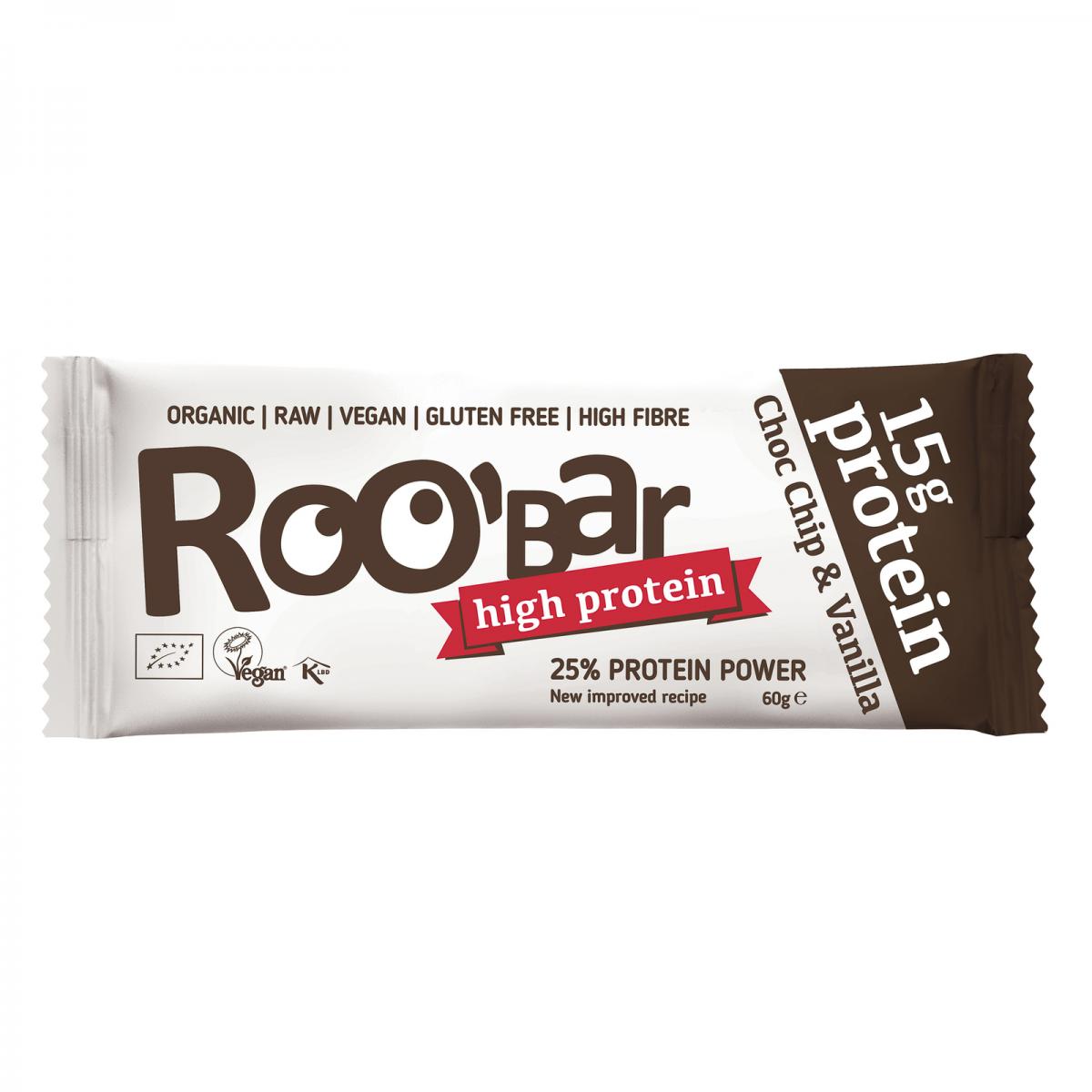 Rohkost Protein Riegel Choc Chip & Vanilla Riegel 60 g - Roobar