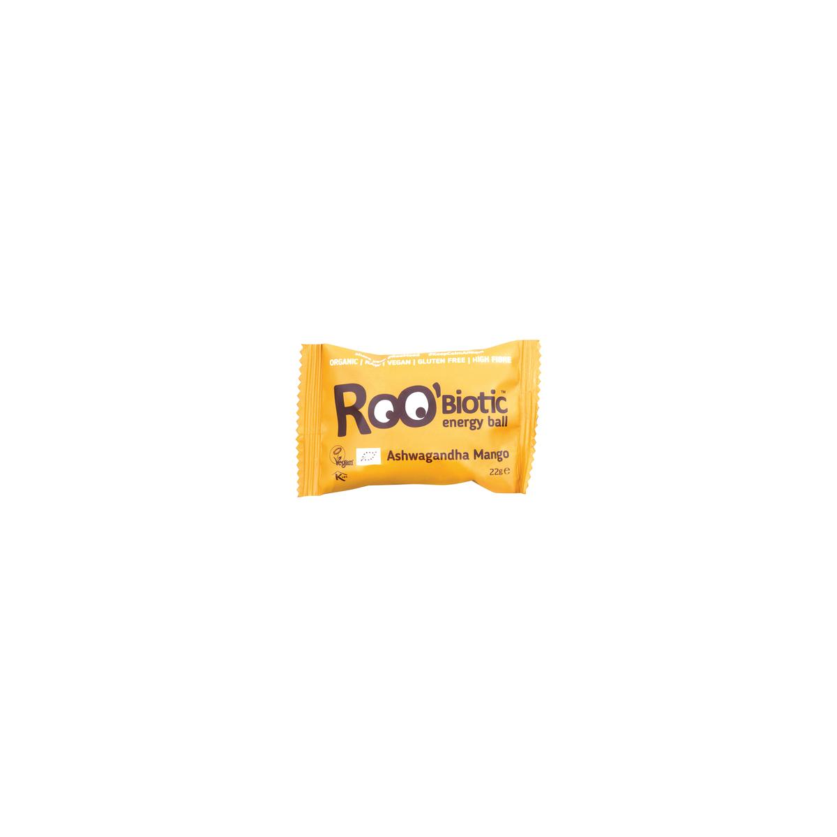 RooBiotic Ashwagandha & Mango Energy Ball Stück 22 g - Roobar