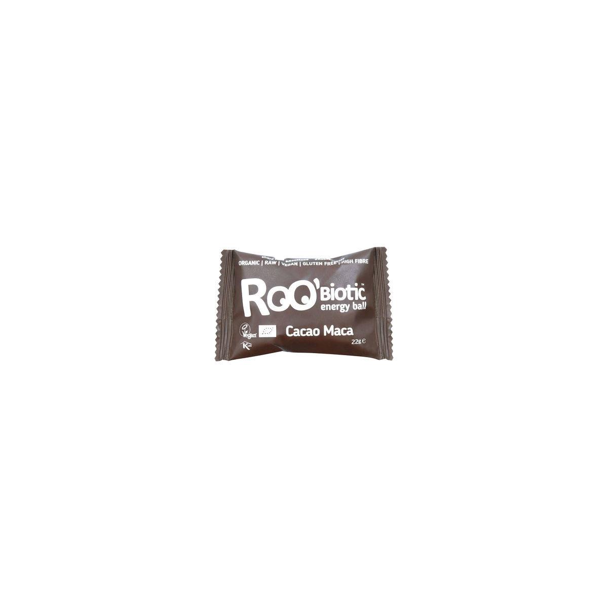 RooBiotic Cacao Maca Energy Ball Stück 22 g - Roobar