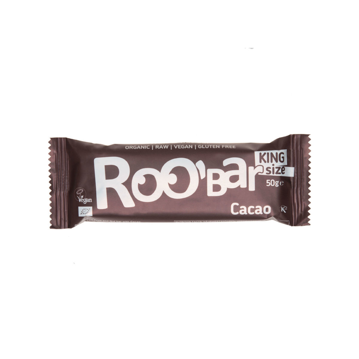 Rohkostriegel Kakao king size Riegel 50 g - Roobar