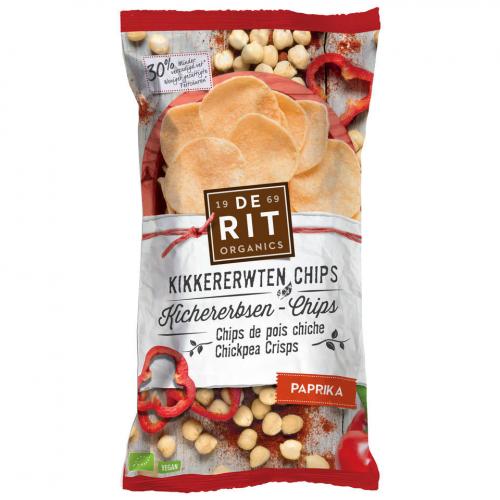 Kichererbsen-Chips Paprika Beutel 75 g - De Rit