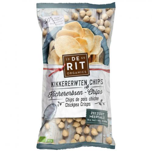 Kichererbsen-Chips Meersalz Beutel 75 g - De Rit