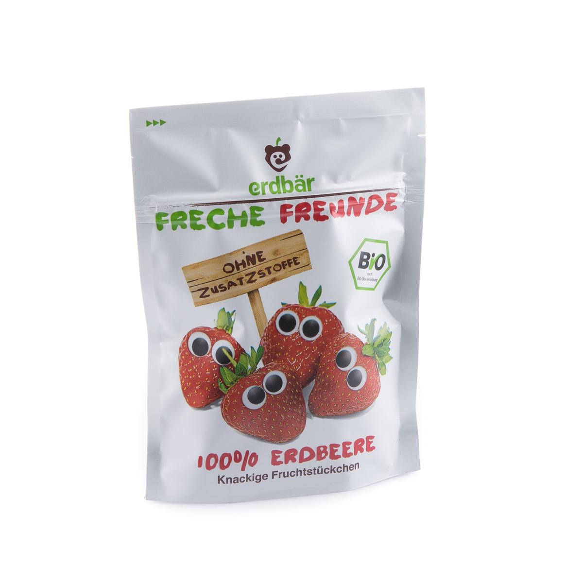 Fruchtchips Erdbeere Beutel 12 g - Freche Freunde