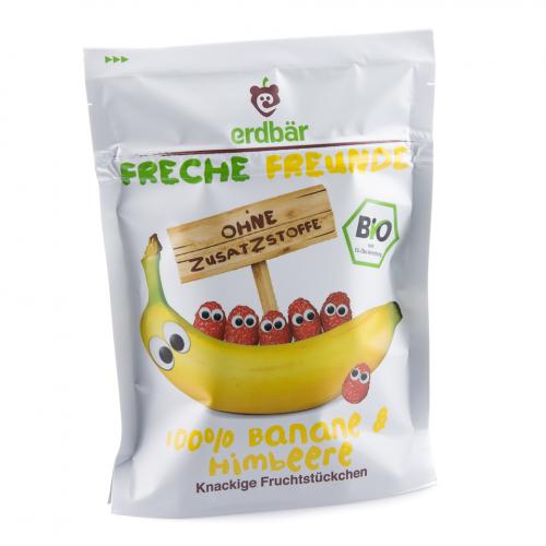 Fruchtchips Banane & Himbeere Beutel 16 g - Freche Freunde