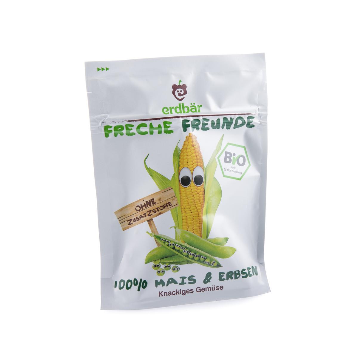 Gemüsechips Mais & Erbsen Beutel 20 g - Freche Freunde