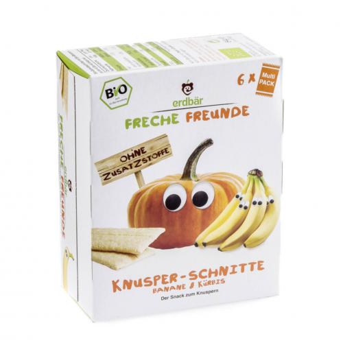 Knusper-Schnitte Banane & Kürbis Pack 84 g - Freche Freunde