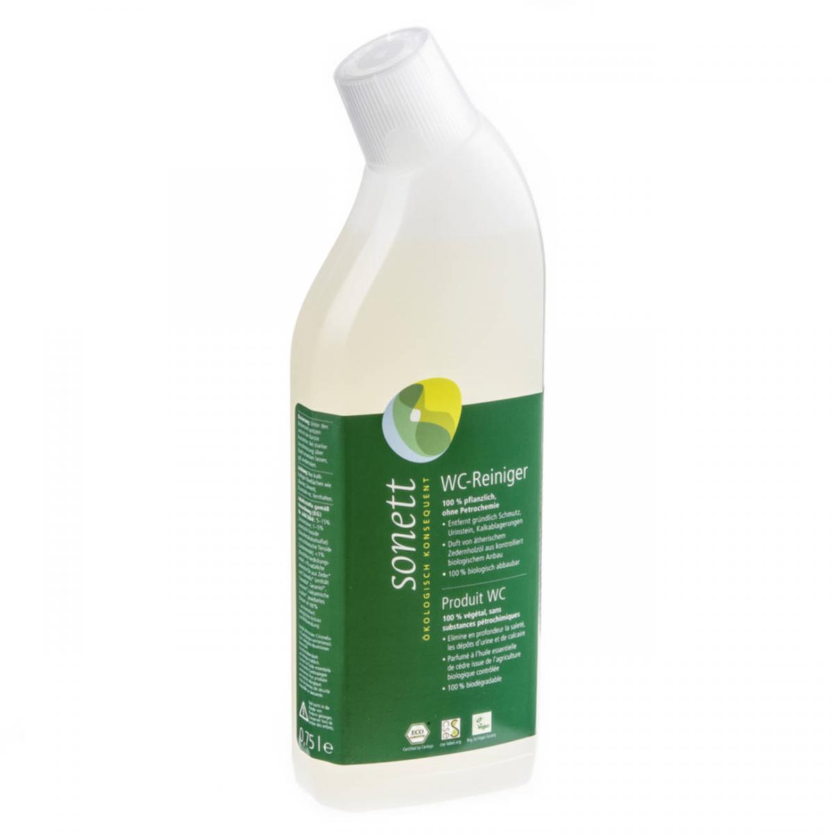 WC-Reiniger Zeder-Citronella Flasche 750 ml/Plastik Einweg - Sonett