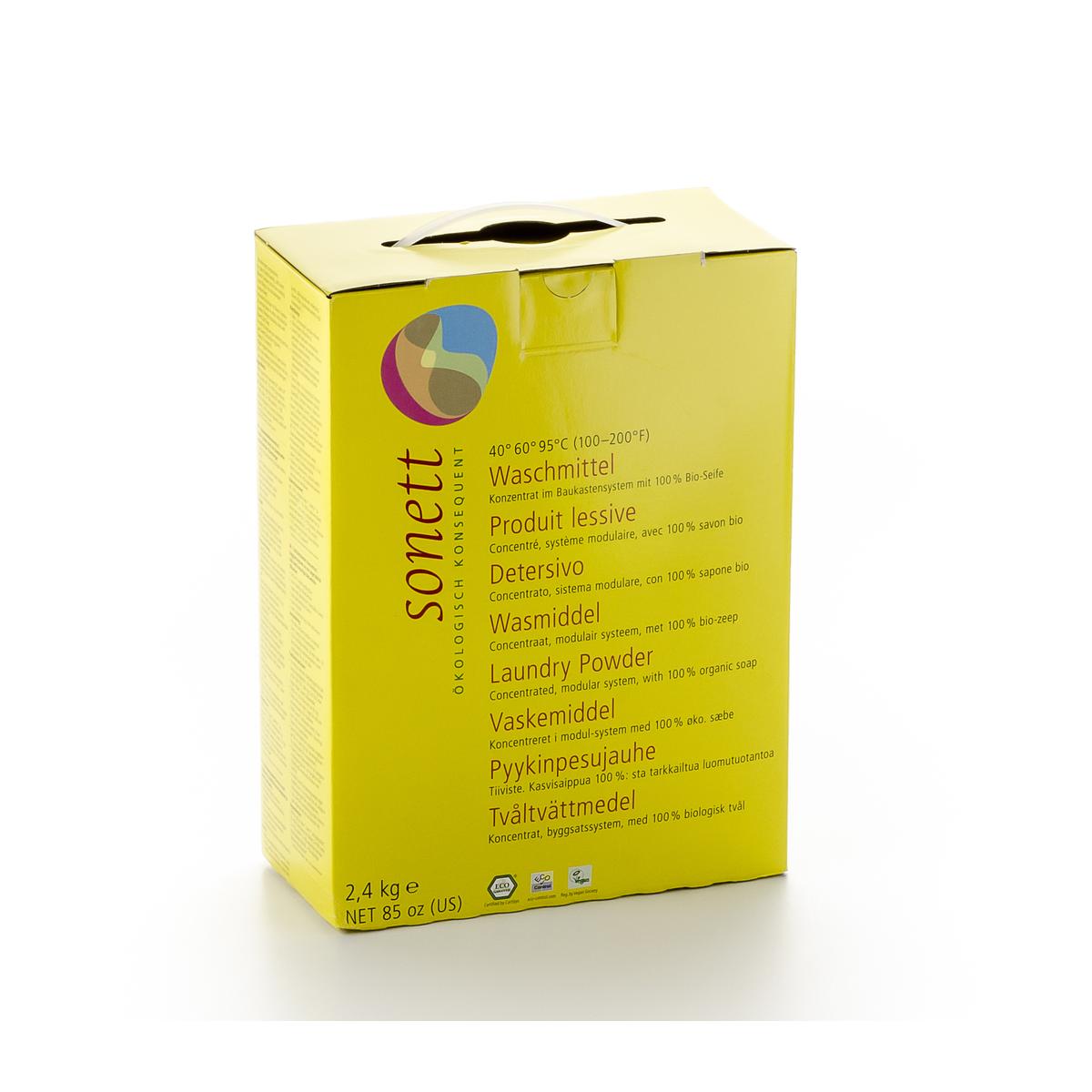 Waschmittel 40° 60° 95°C, Pulver Konzentrat Pack 2.4 kg - Sonett