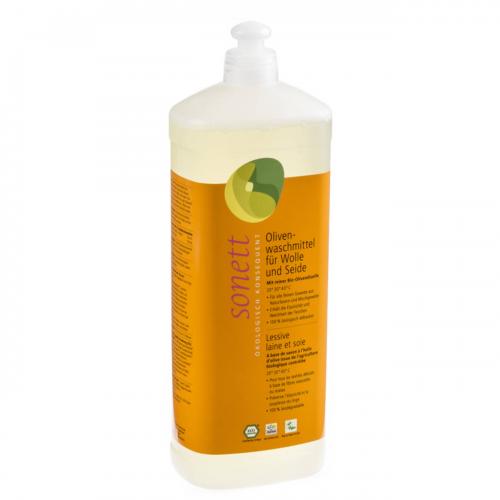 Olivenwaschmittel Wolle/Seide flüssig Flasche 1 l/Plastik Einweg - Sonett