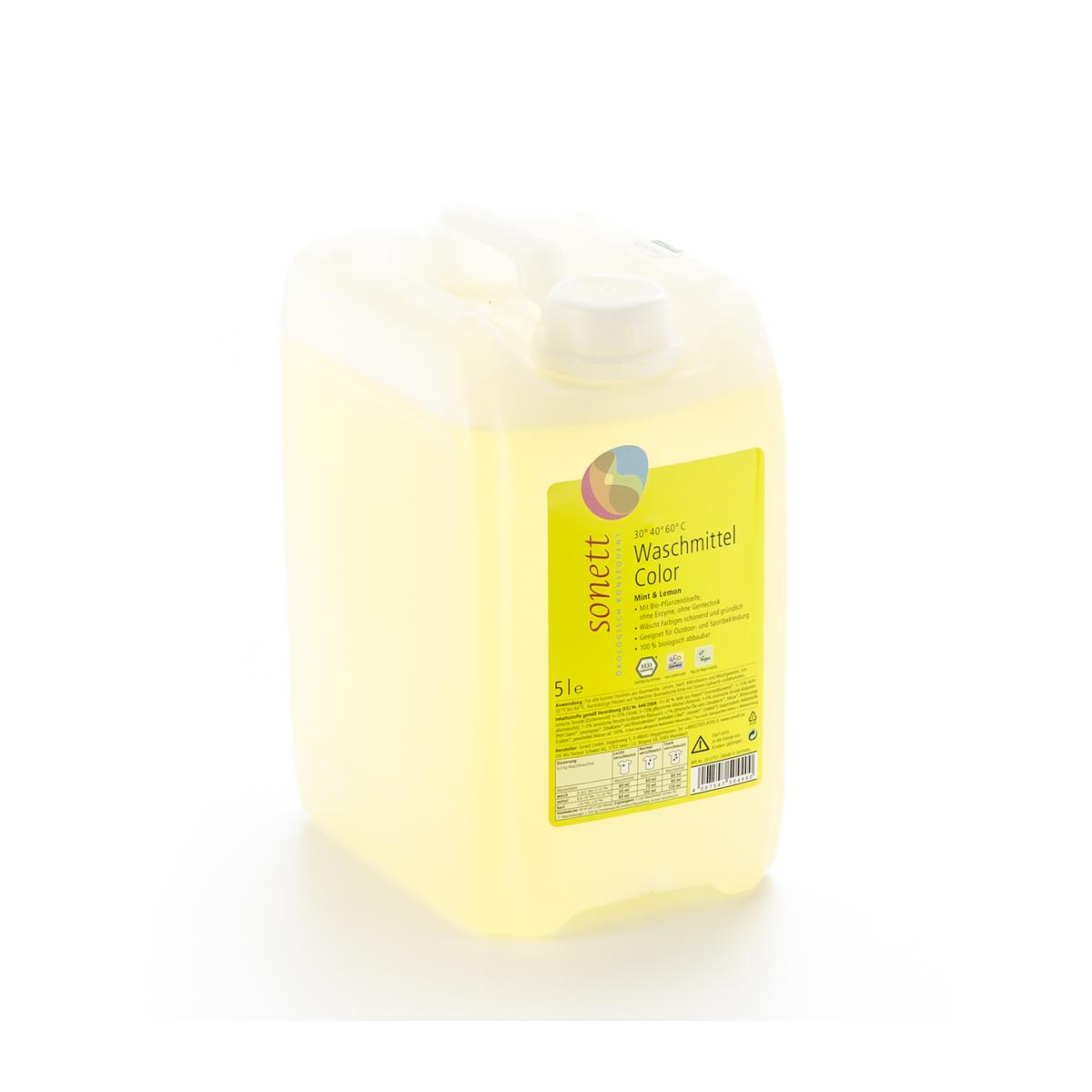 Waschmittel Color 30° 40° 60°C Mint Lemon flüssig Bidon 5 l - Sonett