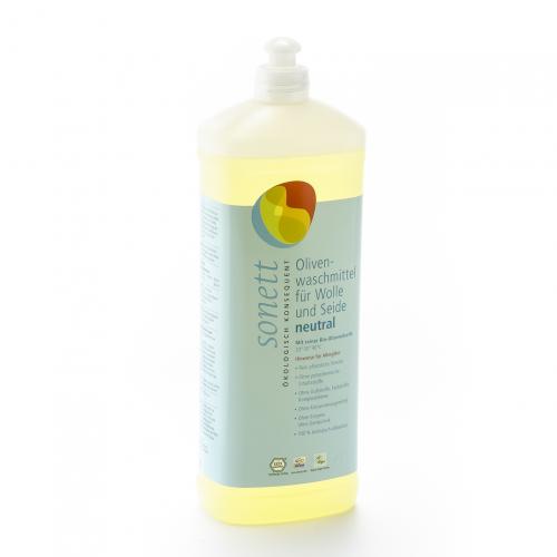 Olivenwaschmittel sensitiv Wolle/Seide flüssig Flasche 1 l/Plastik Einweg - Sonett