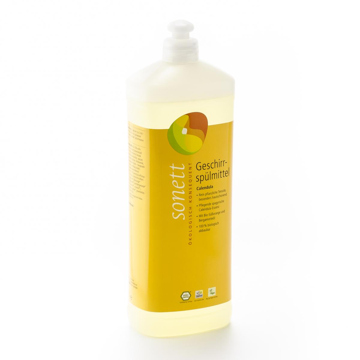 Geschirrspülmittel Calendula, Nachfüllflasche Flasche 1 l/Plastik Einweg - Sonett