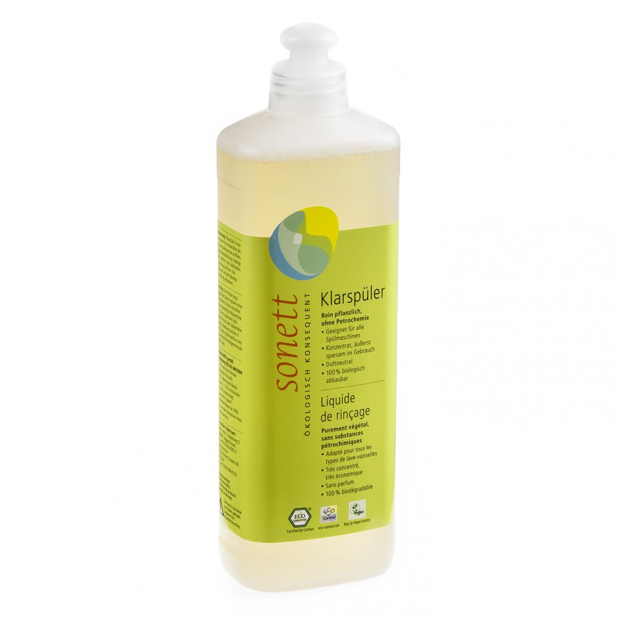 Klarspüler für Geschirrspülmaschine Flasche 500 ml/Plastik Einweg - Sonett