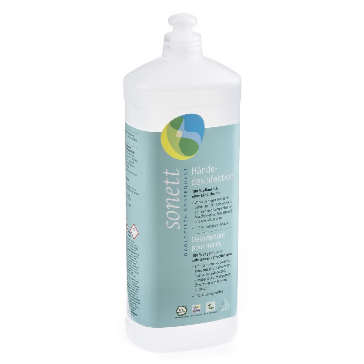 Händedesinfektion, Nachfüllflasche Flasche 1 l/Plastik Einweg - Sonett