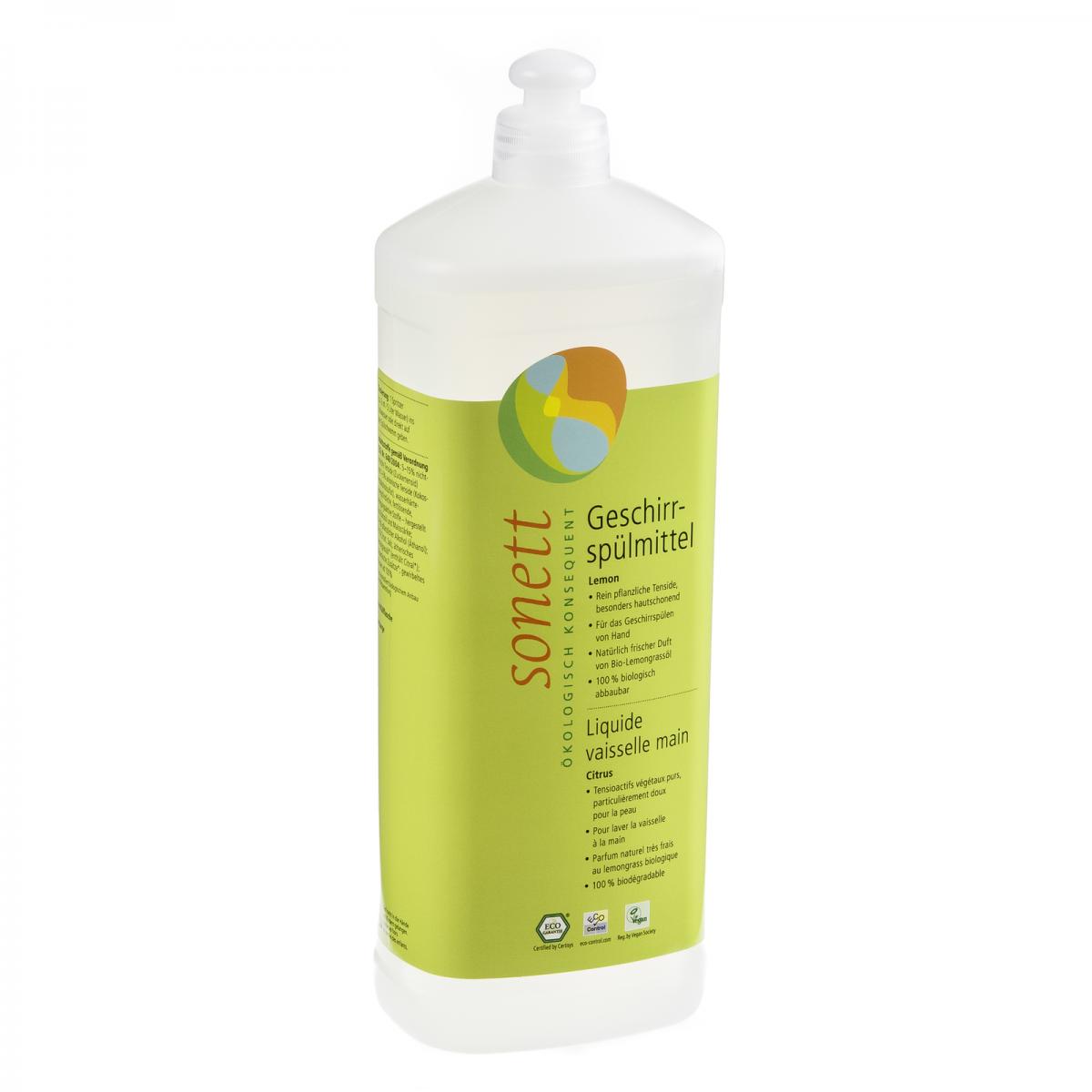 Geschirrspülmittel Lemon, Nachfüllflasche Flasche 1 l/Plastik Einweg - Sonett