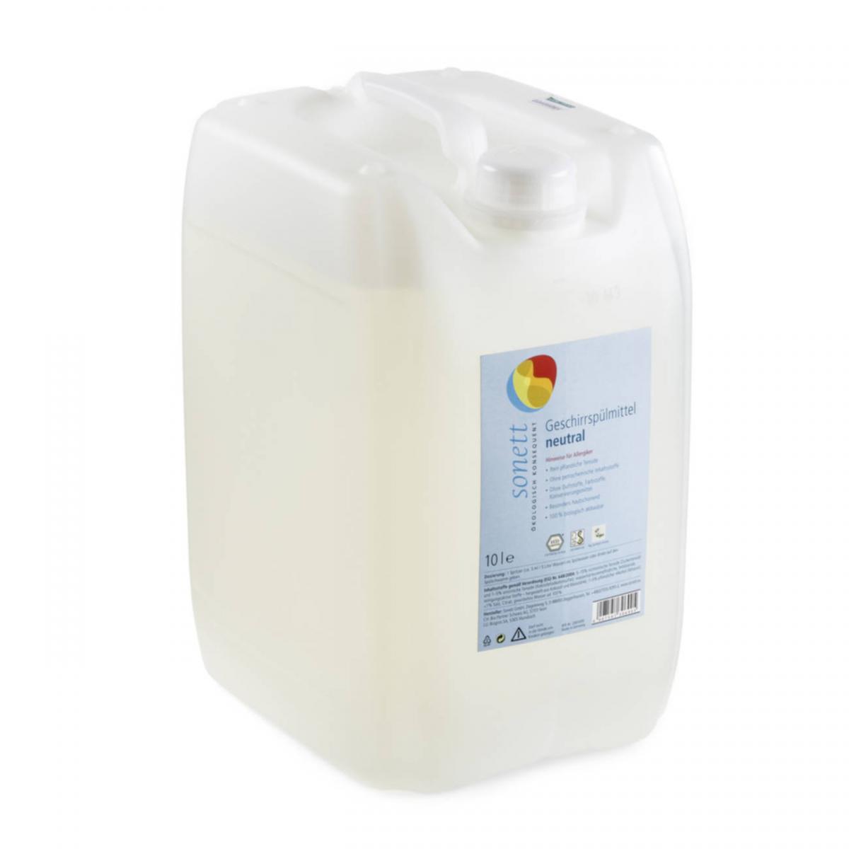 Geschirrspülmittel sensitiv, ohne Duftstoffe Bidon 10 l - Sonett